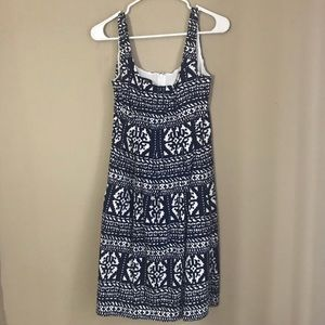 Nine West navy and white patterned dress